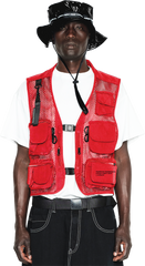 Multipoint Tactical Vest -Red / Black
