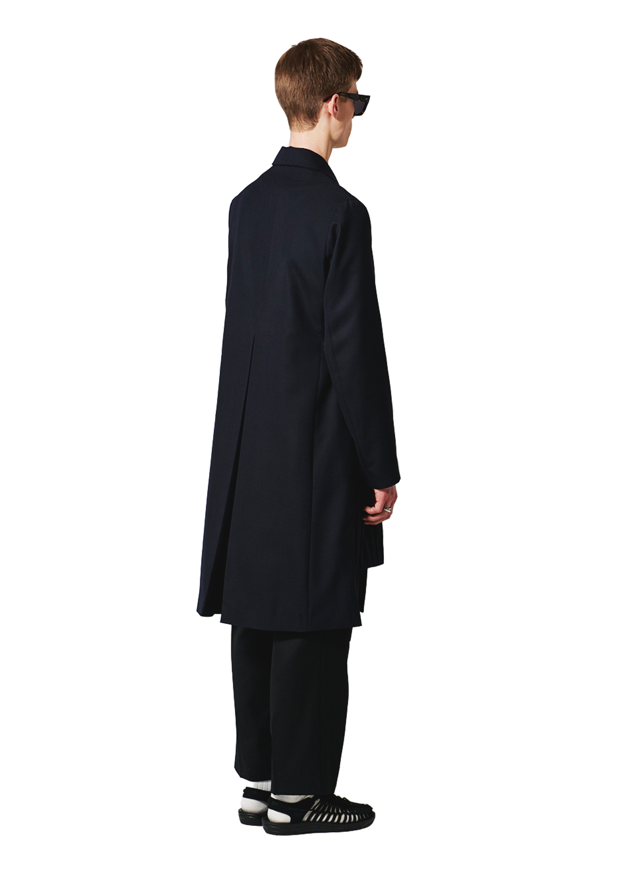 RITUEL - PLEAT OVERCOAT NAVY