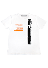 Distortion T-shirt - White / Orange