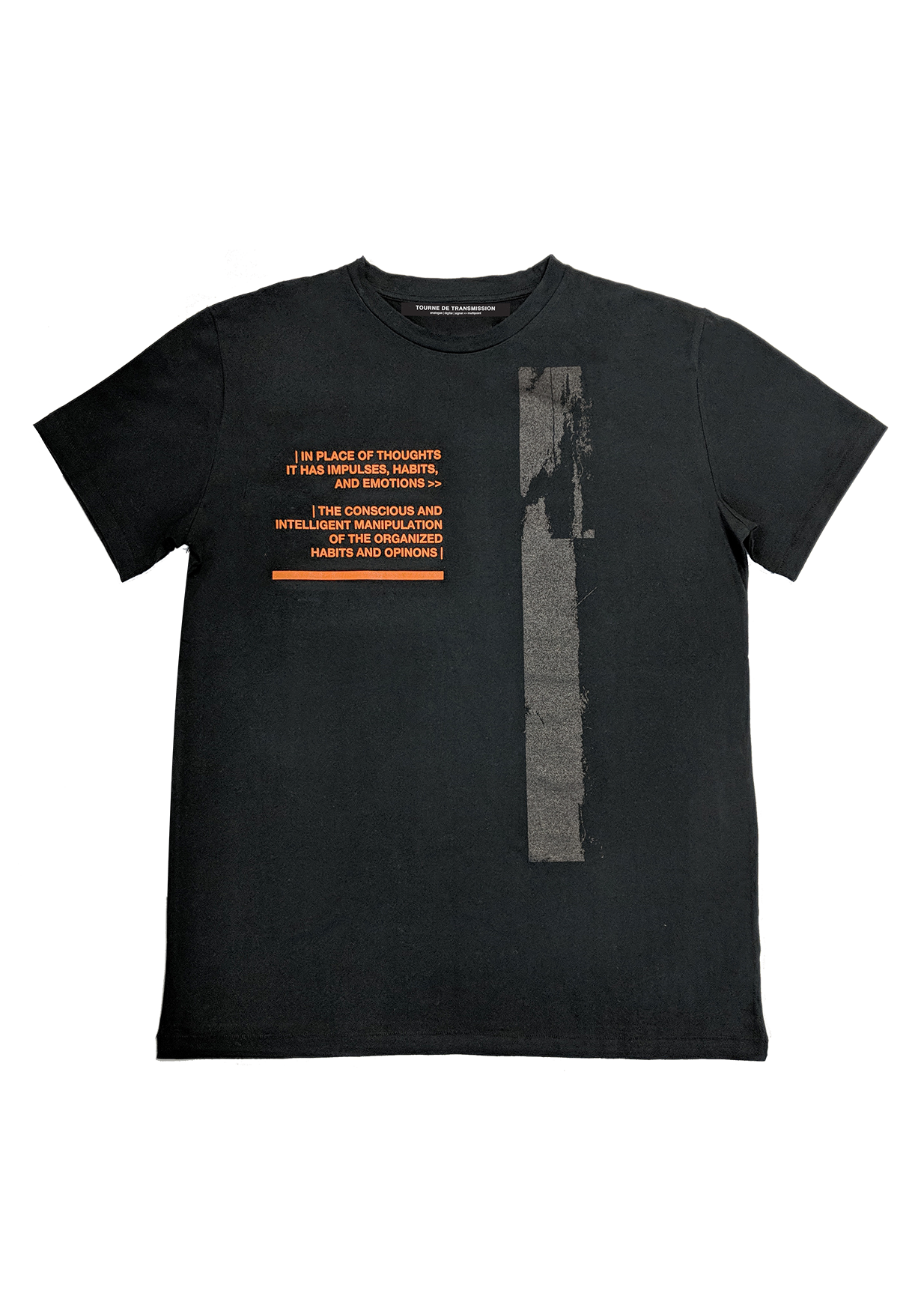 Distortion  T-shirt - black/orange