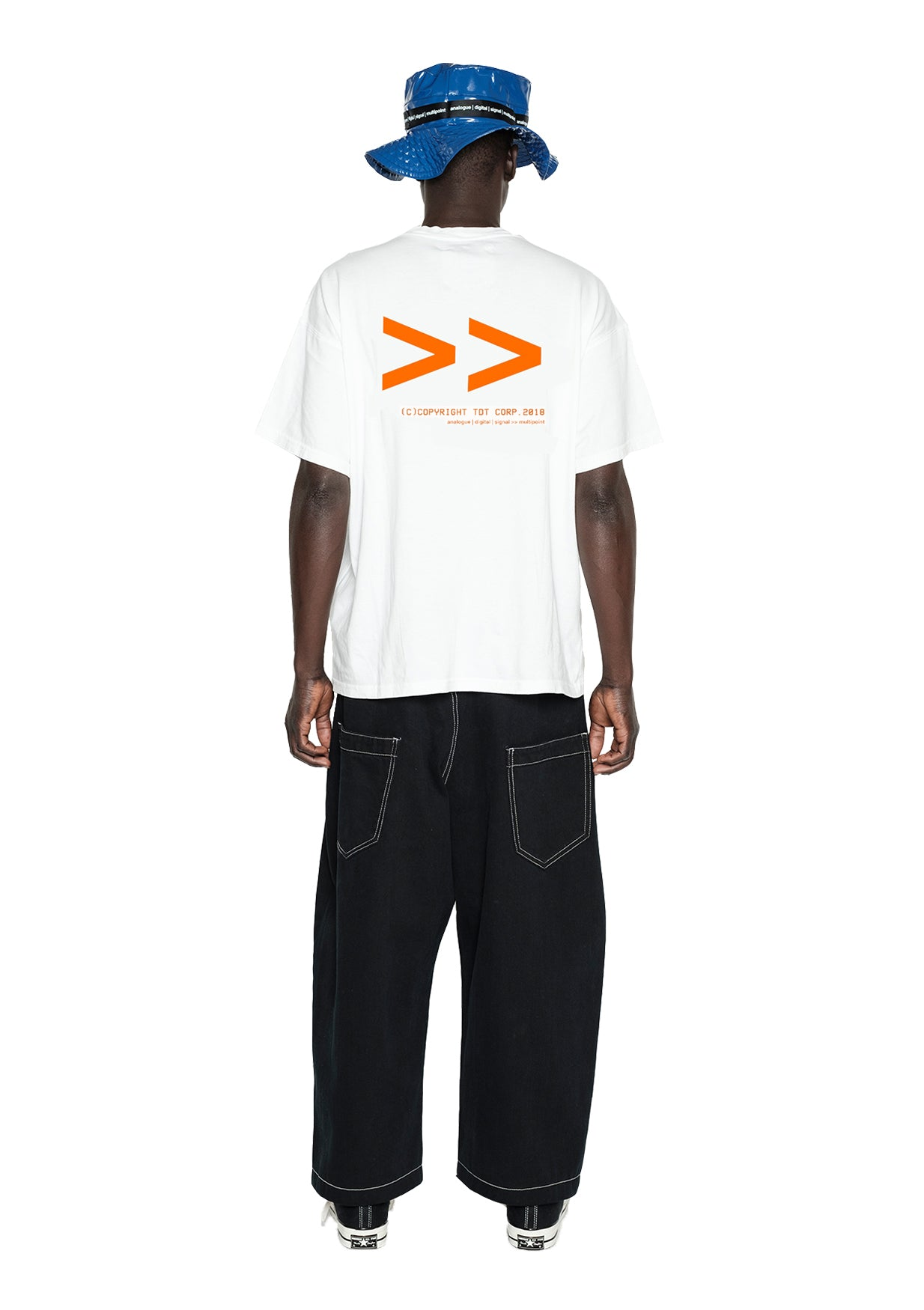 FWD PRINTED TSHIRT - WHITE/ORANGE
