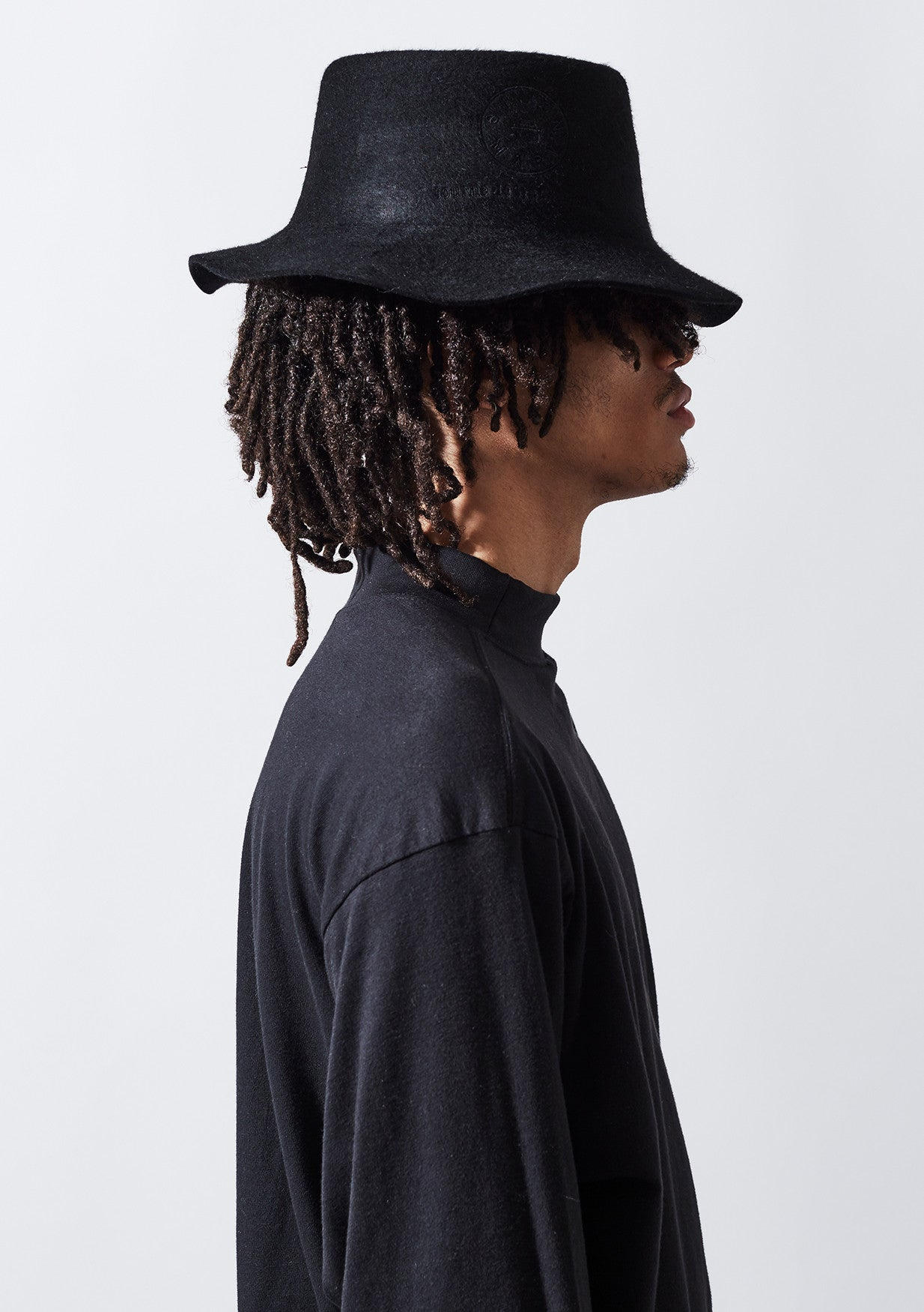YADEN Top Fold Hat - Blk