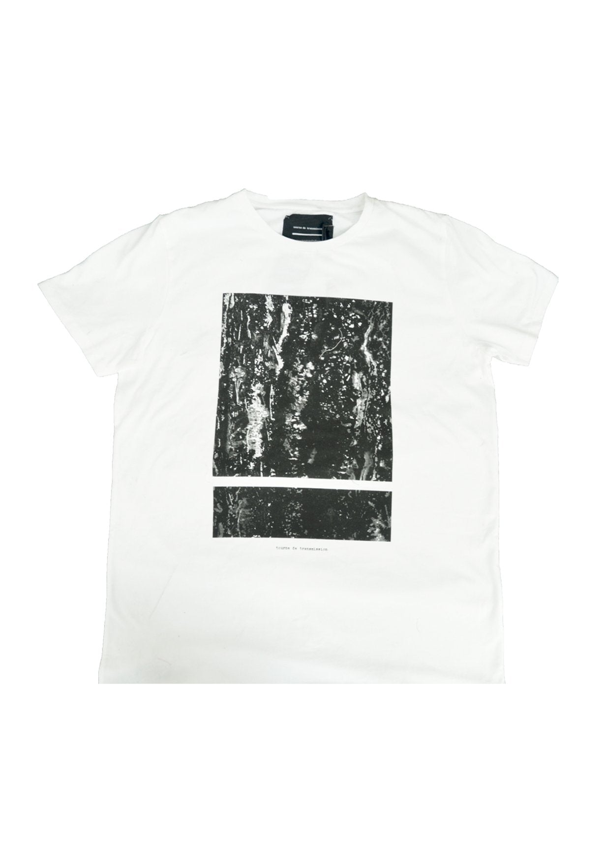 SS15 tee - white split box marble print