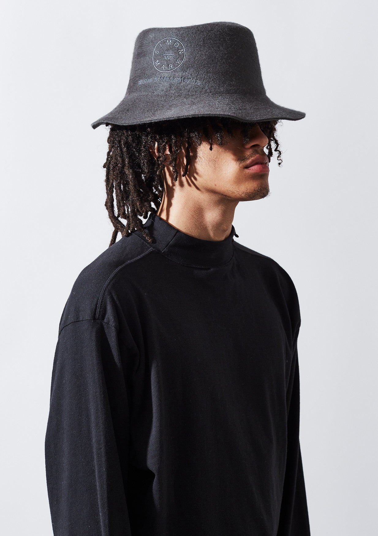 YADEN Top Fold Hat - Washed Grey