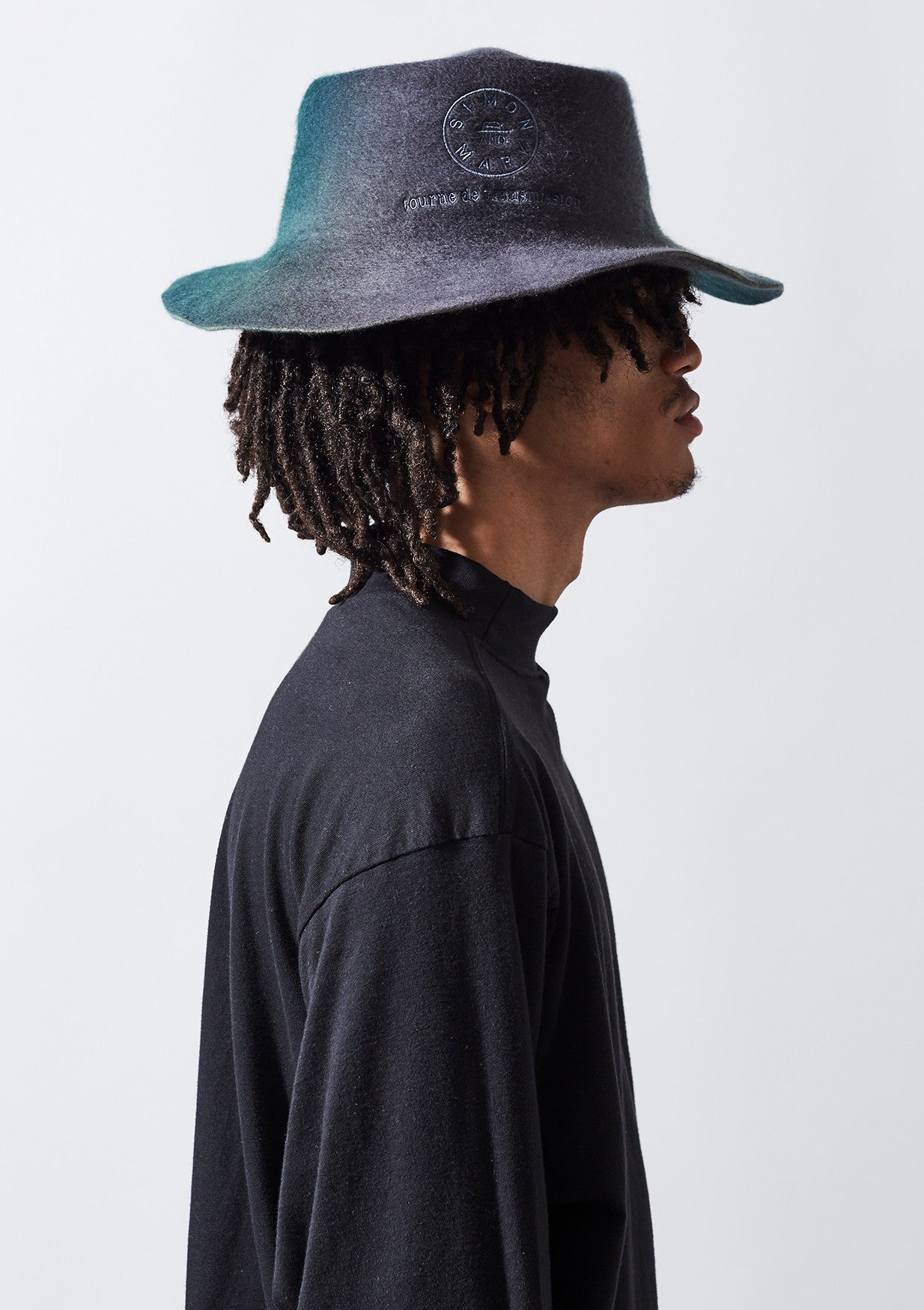 YADEN Top Fold Hat - Grey/ Green
