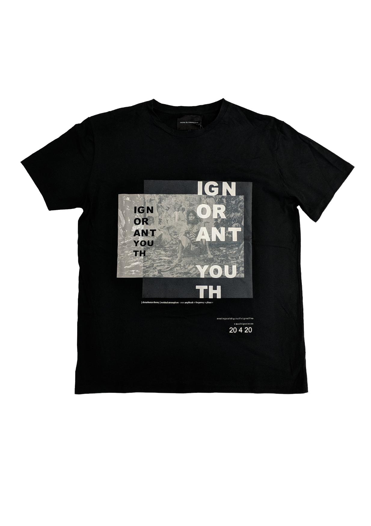 SS16 'We the Ignorant youth' tee - black