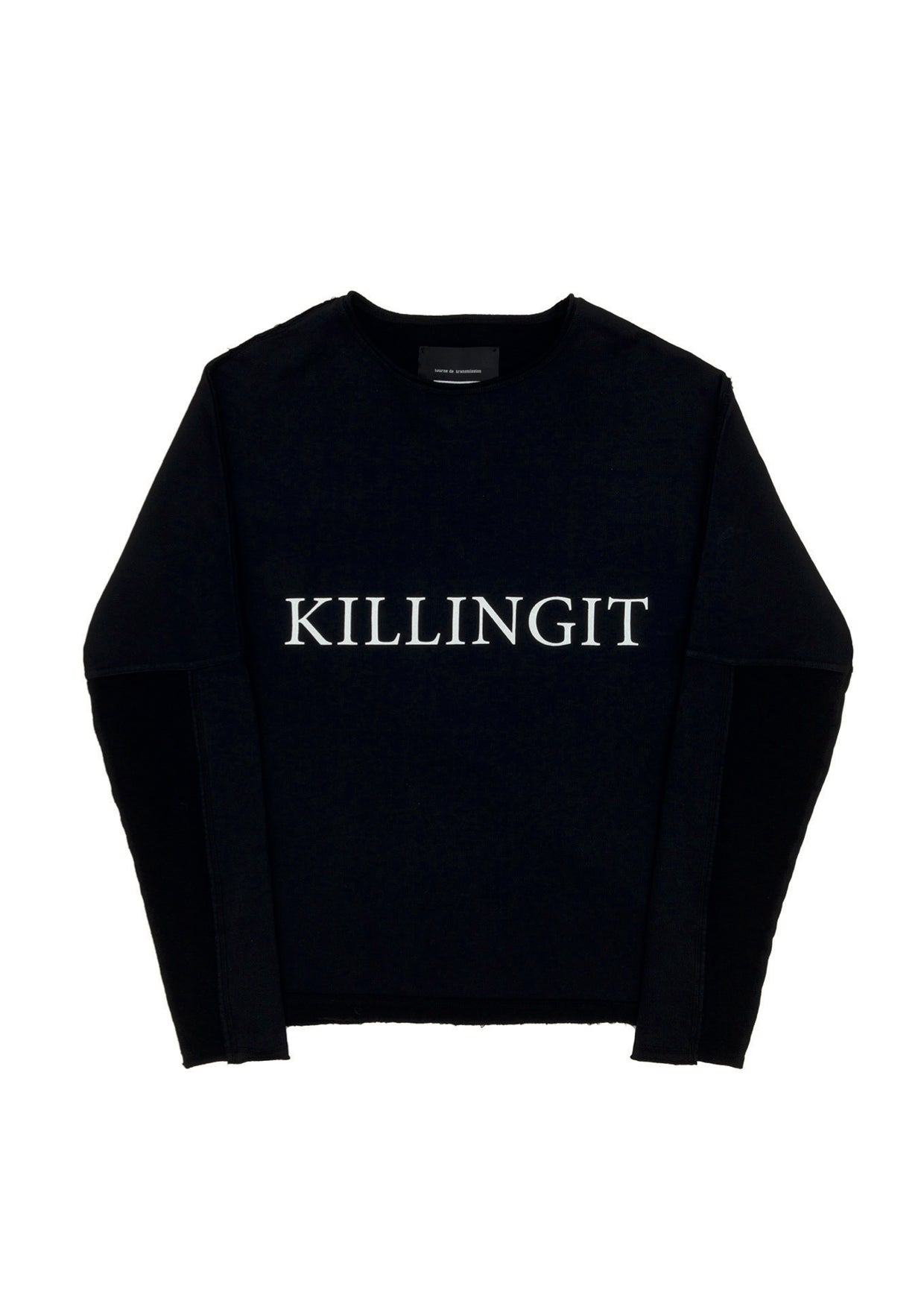 SS16 'KILLING IT' sweat - black