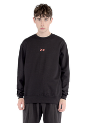 Multipoint Sweater - black/white/red