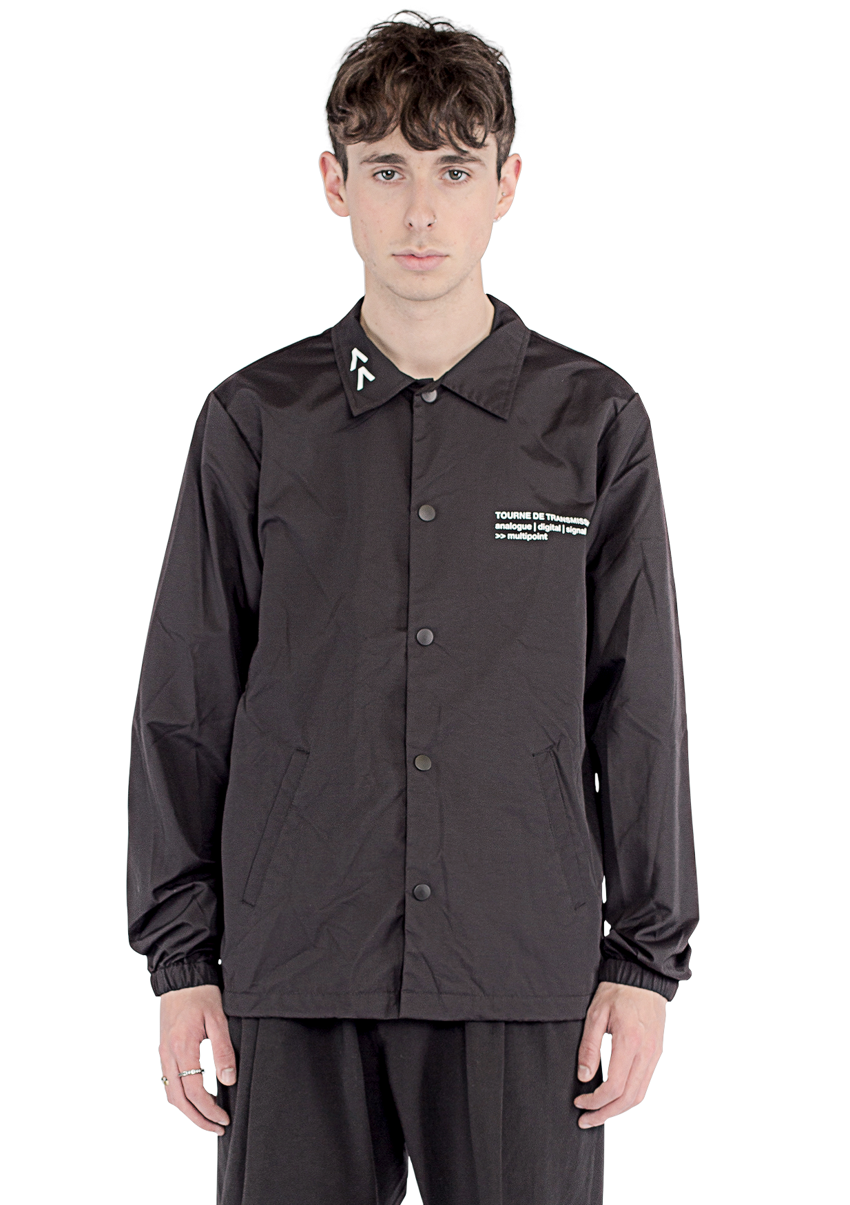 """Multipoint"" Coach jacket - Black / White"