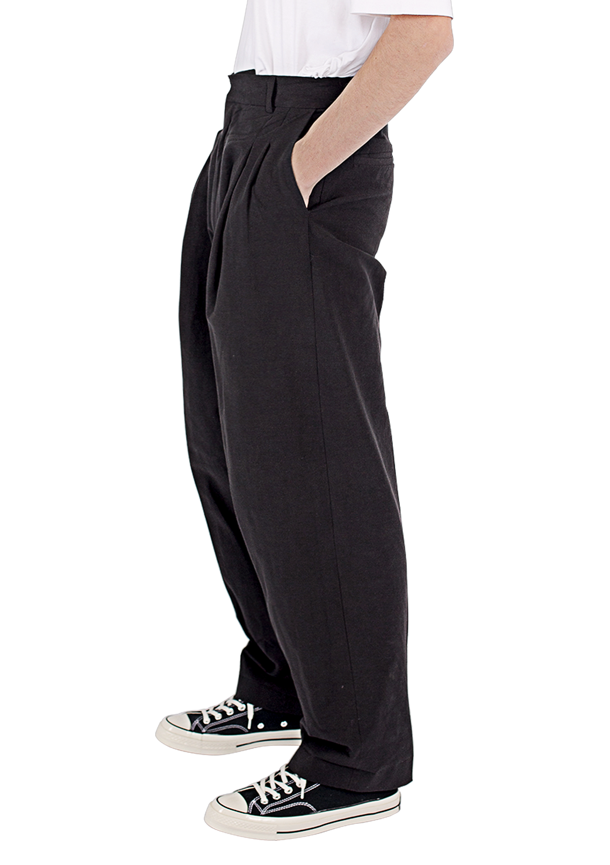 LOUIS - TAILORED LONG PLEAT PANT