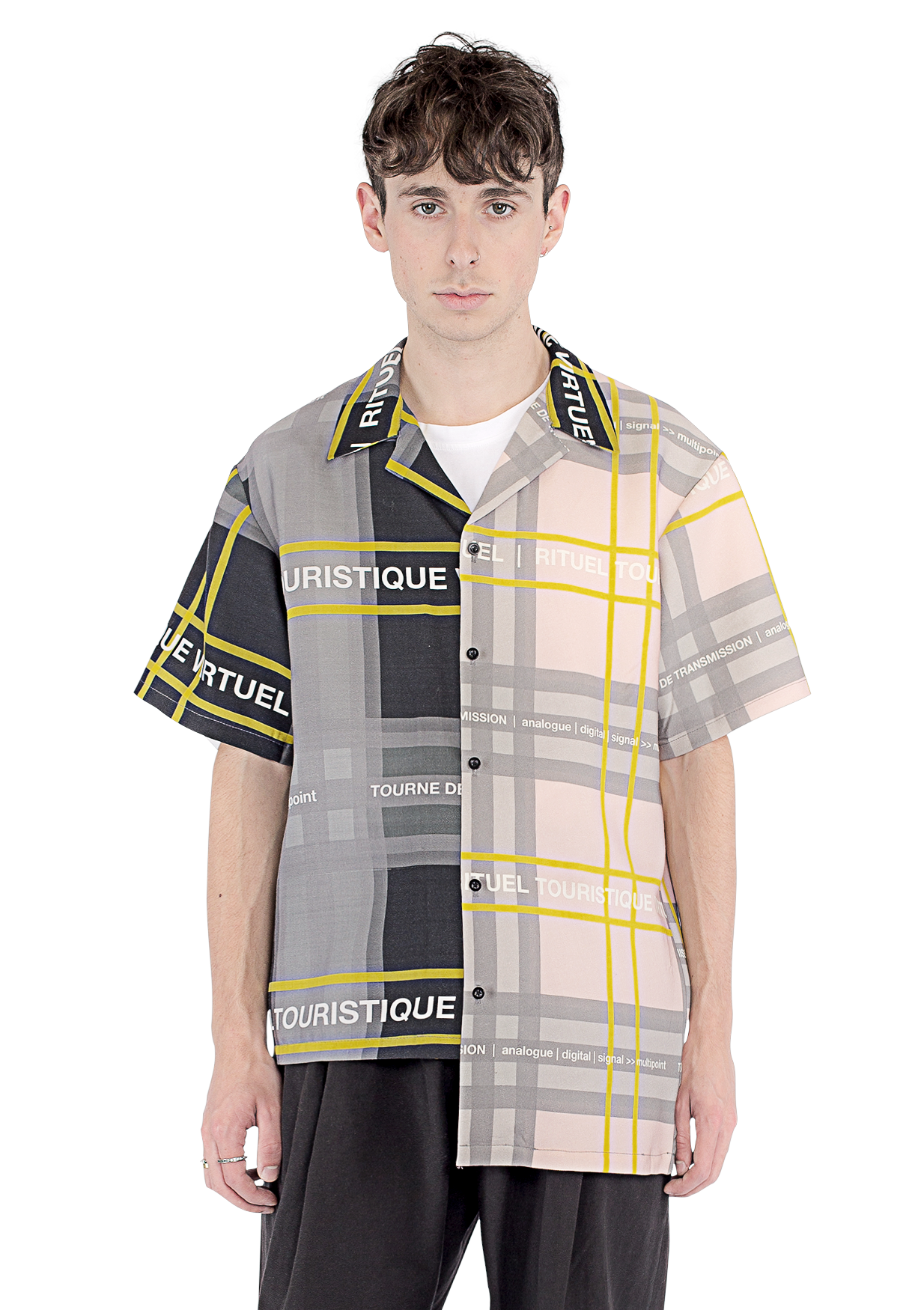 TOURISTIQE CHECK CAMP COLLAR S/S SHIRT