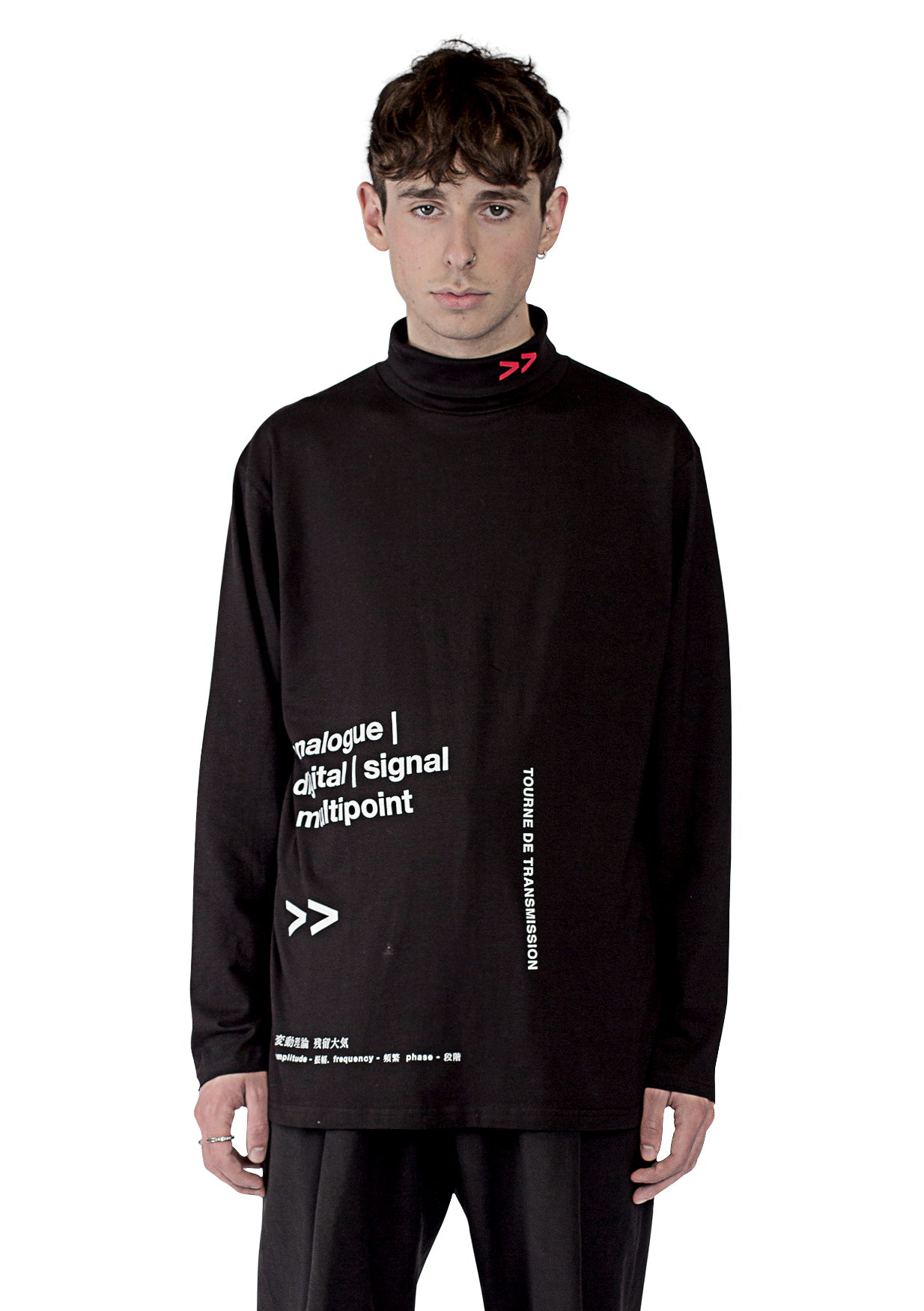 PHASE L/S ROLL NECK T-shirt