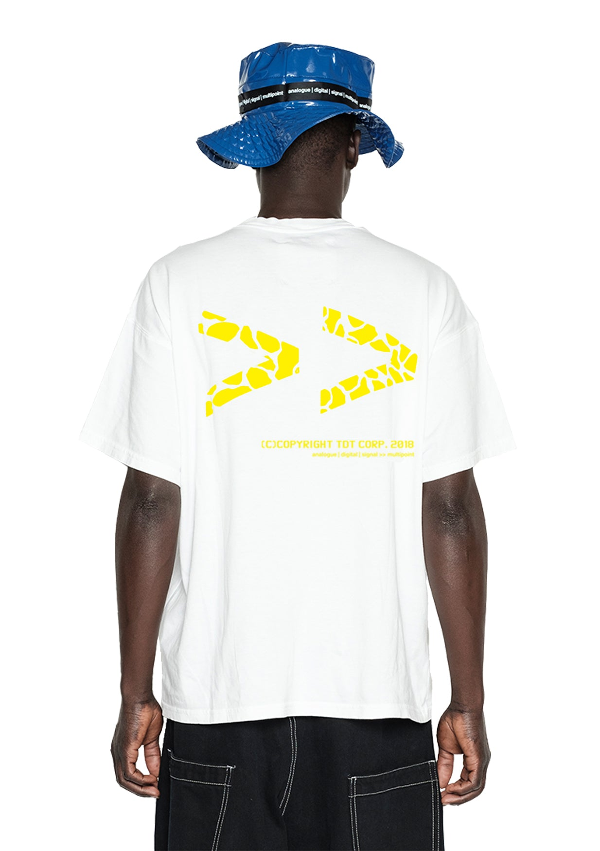 FWD PRINTED TSHIRT - WHITE/YELLOW