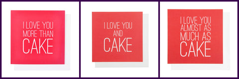Valentines Love You Cake Cards