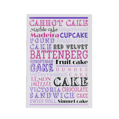 Cake Typography Notebook