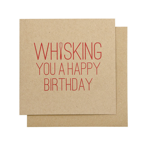 Whisking You A Happy Birthday Card (Kraft)