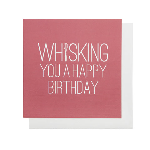 Whisking You A Happy Birthday Card (Coral)