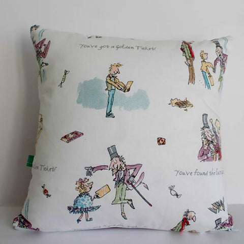 Murraymaker Charlie and the Chocolate Factory cushion