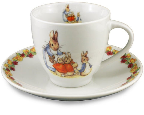 Peter Rabbit and Family Cup and Saucer