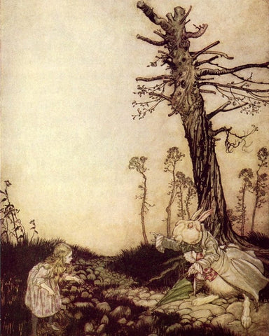 Arthur Rackham Alice in Wonderland Print