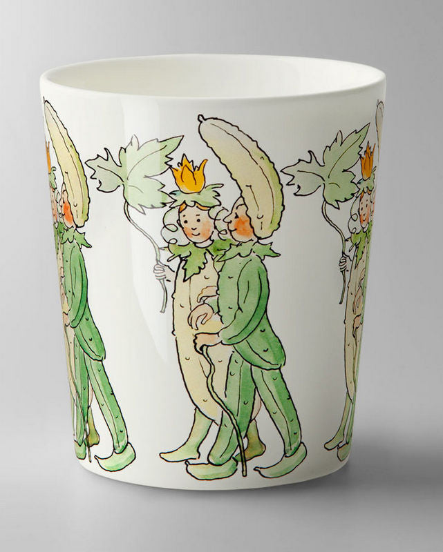 Mug: Elsa Beskow, Mr and Mrs Cucumber (no handle)