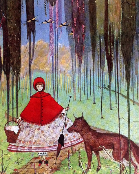 Harry Clarke's Red Riding Hood illustration