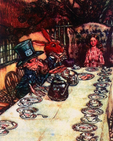 Print: Arthur Rackham - Alice in Wonderland, The Mad Hatter's Tea Party