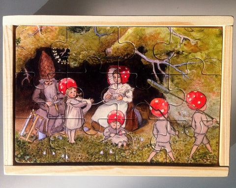 Jigsaw: 4-in-1 Elsa Beskow, Children of the Forest