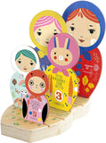 Suzy Ultman: Masha and her Friends - Wooden Nesting Doll Puzzle
