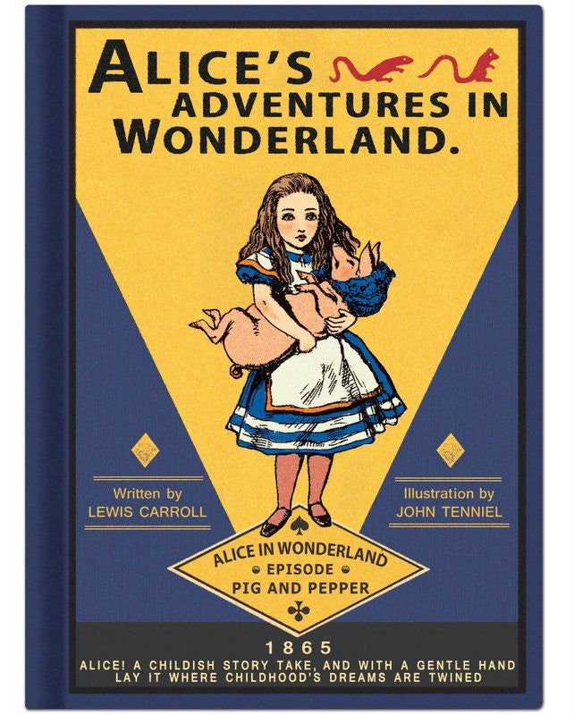 Alice in Wonderland Hardback Notebook
