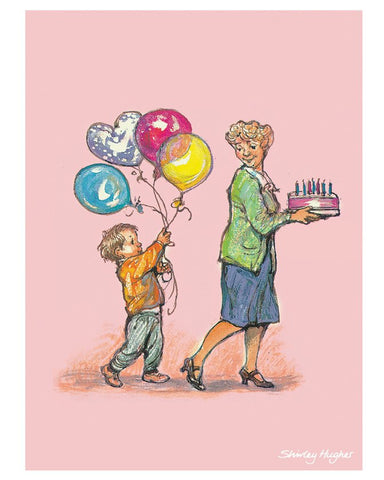 Print: Shirley Hughes, With Mum