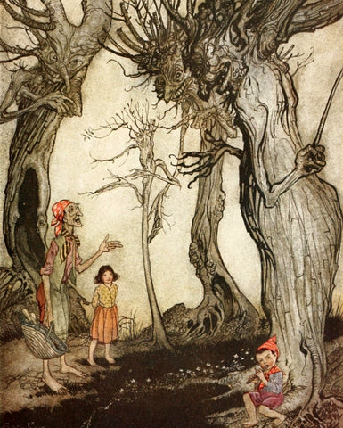 Small Print: Arthur Rackham's Aesop's Fables, The Trees and the Axe