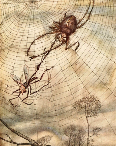 Small Print: Arthur Rackham's Aesop's Fables, The Spider and the Fly