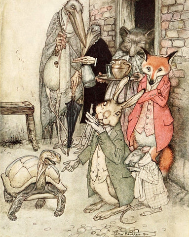 Small Print: Arthur Rackham's Aesop's Fables, The Tortoise and the Hare