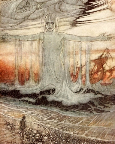 Small Print: Arthur Rackham's Aesop's Fables, The Shipwrecked Man and the Sea