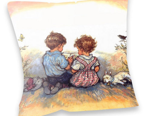 Cushion: Alfie and Annie Rose, Reading