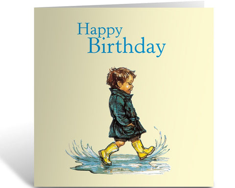 Greeting Card: Alfie, Happy Birthday (Puddles)