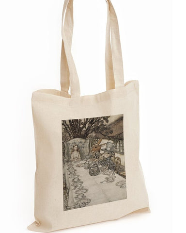 Tote Bag: Arthur Rackham - Alice in Wonderland, The Mad-Hatter's Tea Party