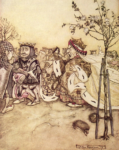 Small Print: Arthur Rackham's Alice in Wonderland, Off with her head!