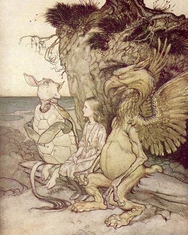 Small Print: Arthur Rackham's Alice in Wonderland, The Gryphon and the Mock Turtle