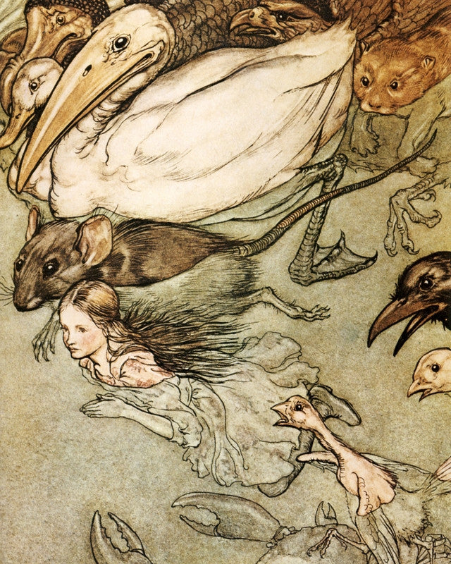 Arthur Rackham Print Alice in Wonderland