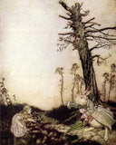 Arthur Rackham Print: Alice in Wonderland