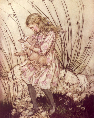 Small Print: Arthur Rackham's Alice in Wonderland, Alice and the Pig