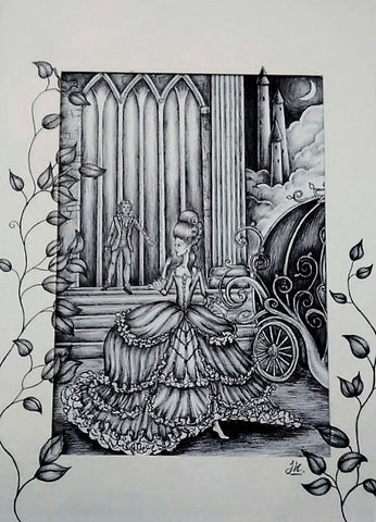 Print: Jenni Kilgallon - Cinderella Leaving the Ball