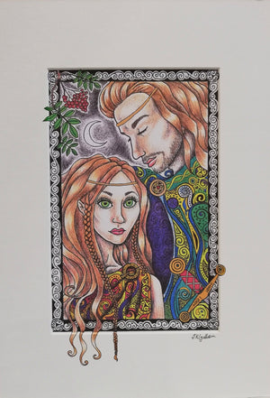 Diarmuid and Grainne Print by Jenni Kilgallon