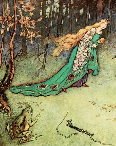 Print: Warwick Goble - The Princess and the Frog