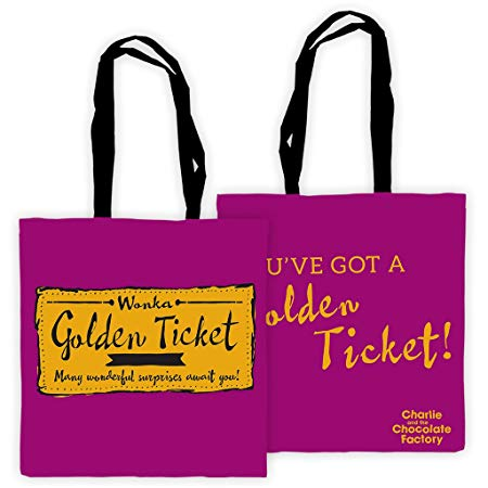 Tote Bag: Roald Dahl - Charlie and the Chocolate Factory (You've got a Golden Ticket)