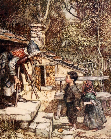 Print: Arthur Rackham - Hansel and Gretel