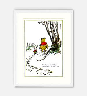 How do you spell love Pooh print