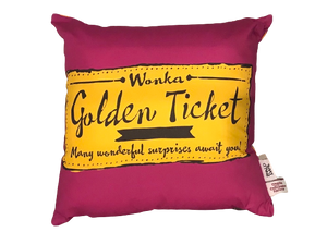 Cushion: Roald Dahl, Charlie and the Chocolate Factory (Golden Ticket)